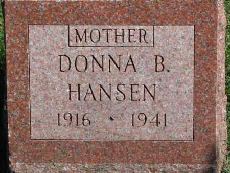 HANSEN, DONNA B. - Dakota County, Nebraska | DONNA B. HANSEN - Nebraska Gravestone Photos