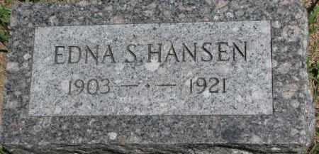 HANSEN, EDNA S. - Dakota County, Nebraska | EDNA S. HANSEN - Nebraska Gravestone Photos