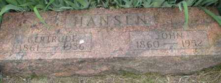 HANSEN, GERTRUDE - Dakota County, Nebraska | GERTRUDE HANSEN - Nebraska Gravestone Photos