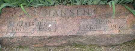 HANSEN, JOHN - Dakota County, Nebraska | JOHN HANSEN - Nebraska Gravestone Photos