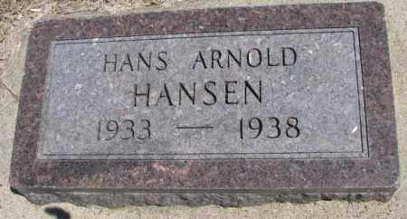 HANSEN, HANS ARNOLD - Dakota County, Nebraska | HANS ARNOLD HANSEN - Nebraska Gravestone Photos