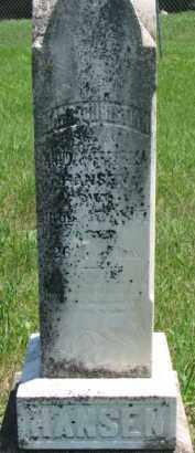 HANSEN, HANS CHRISTIAN - Dakota County, Nebraska | HANS CHRISTIAN HANSEN - Nebraska Gravestone Photos