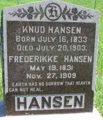 HANSEN, FREDERIKKE - Dakota County, Nebraska | FREDERIKKE HANSEN - Nebraska Gravestone Photos
