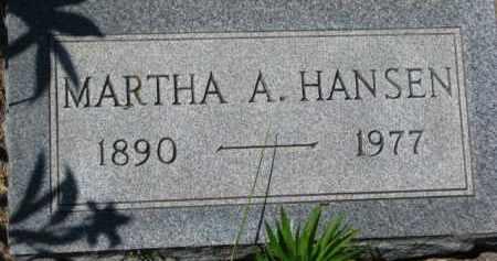 HANSEN, MARTHA A. - Dakota County, Nebraska | MARTHA A. HANSEN - Nebraska Gravestone Photos