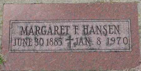 HANSEN, MARGARET F. - Dakota County, Nebraska   MARGARET F. HANSEN - Nebraska Gravestone Photos