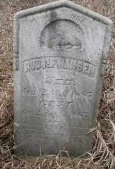 HANSEN, RUDOLF - Dakota County, Nebraska | RUDOLF HANSEN - Nebraska Gravestone Photos