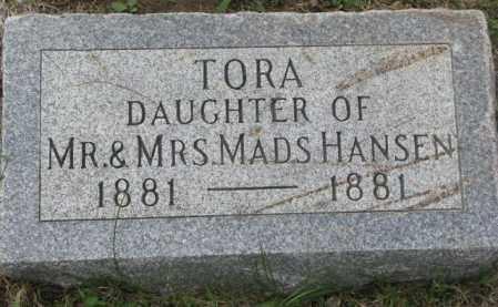 HANSEN, TORA - Dakota County, Nebraska | TORA HANSEN - Nebraska Gravestone Photos