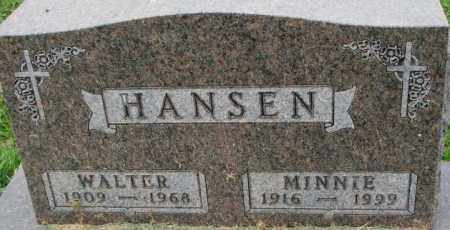 HANSEN, WALTER - Dakota County, Nebraska | WALTER HANSEN - Nebraska Gravestone Photos