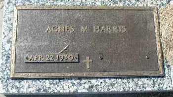 HARRIS, AGNES M. - Dakota County, Nebraska | AGNES M. HARRIS - Nebraska Gravestone Photos