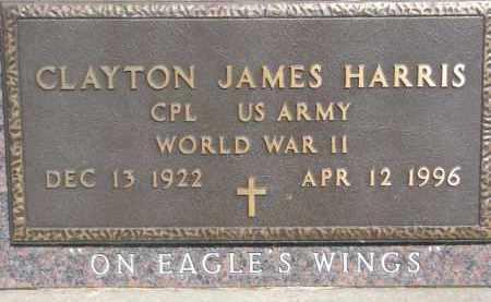 HARRIS, CLAYTON JAMES (WW II MARKER) - Dakota County, Nebraska | CLAYTON JAMES (WW II MARKER) HARRIS - Nebraska Gravestone Photos