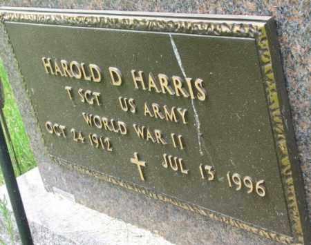 HARRIS, HAROLD D. (WW II) - Dakota County, Nebraska | HAROLD D. (WW II) HARRIS - Nebraska Gravestone Photos