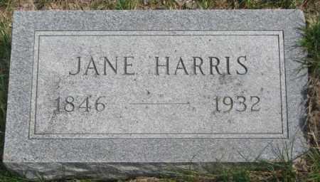 HARRIS, JANE - Dakota County, Nebraska   JANE HARRIS - Nebraska Gravestone Photos