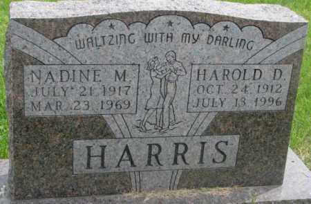 HARRIS, HAROLD D. - Dakota County, Nebraska | HAROLD D. HARRIS - Nebraska Gravestone Photos