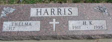 HARRIS, THELMA - Dakota County, Nebraska | THELMA HARRIS - Nebraska Gravestone Photos