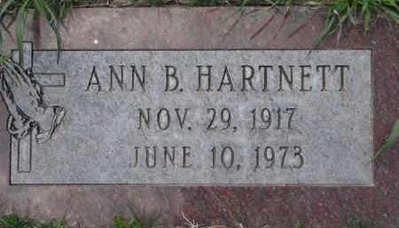 HARTNETT, ANN. B. - Dakota County, Nebraska | ANN. B. HARTNETT - Nebraska Gravestone Photos