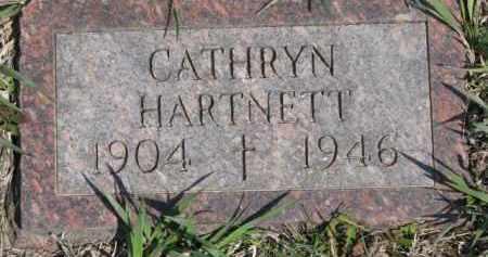 HARTNETT, CATHRYN - Dakota County, Nebraska   CATHRYN HARTNETT - Nebraska Gravestone Photos