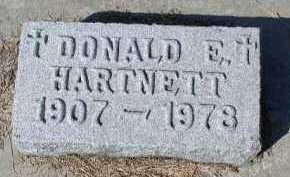 HARTNETT, DONALD E. - Dakota County, Nebraska | DONALD E. HARTNETT - Nebraska Gravestone Photos