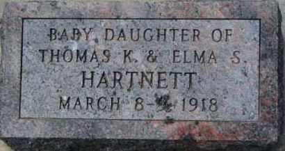 HARTNETT, INFANT - Dakota County, Nebraska   INFANT HARTNETT - Nebraska Gravestone Photos