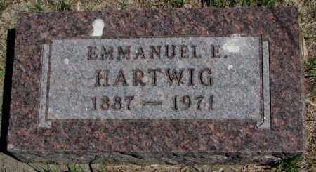 HARTWIG, EMMANUEL E. - Dakota County, Nebraska | EMMANUEL E. HARTWIG - Nebraska Gravestone Photos