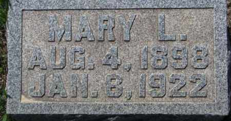 HARTY, MARY L. - Dakota County, Nebraska | MARY L. HARTY - Nebraska Gravestone Photos