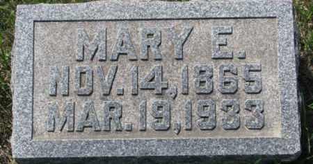 HARTY, MARY E. - Dakota County, Nebraska   MARY E. HARTY - Nebraska Gravestone Photos