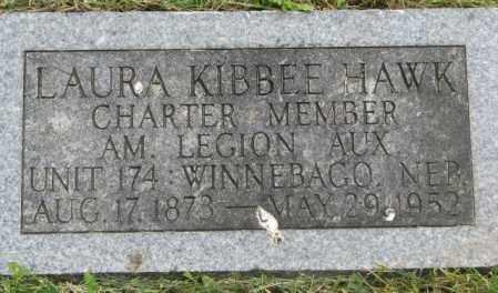 KIBBEE HAWK, LAURA - Dakota County, Nebraska   LAURA KIBBEE HAWK - Nebraska Gravestone Photos