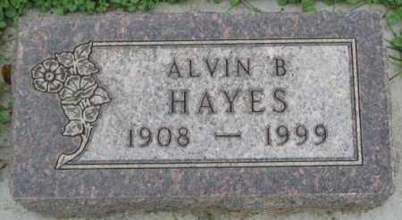 HAYES, ALVIN B. - Dakota County, Nebraska   ALVIN B. HAYES - Nebraska Gravestone Photos