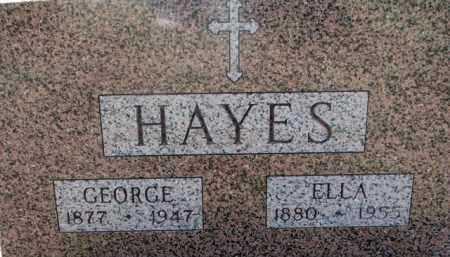 HAYES, ELLA - Dakota County, Nebraska | ELLA HAYES - Nebraska Gravestone Photos