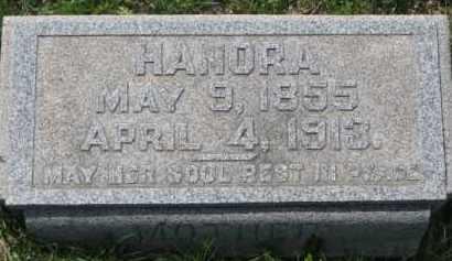 HAYES, HANORA - Dakota County, Nebraska | HANORA HAYES - Nebraska Gravestone Photos