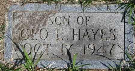 HAYES, INFANT - Dakota County, Nebraska   INFANT HAYES - Nebraska Gravestone Photos