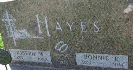 HAYES, BONNIE E. - Dakota County, Nebraska | BONNIE E. HAYES - Nebraska Gravestone Photos