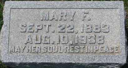 HAYES, MARY F. - Dakota County, Nebraska | MARY F. HAYES - Nebraska Gravestone Photos