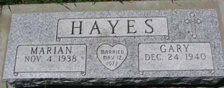 HAYES, MARIAN - Dakota County, Nebraska | MARIAN HAYES - Nebraska Gravestone Photos