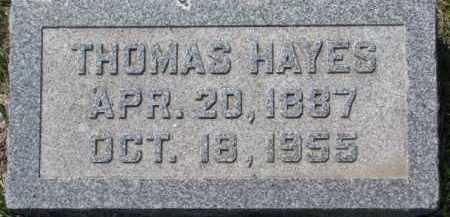HAYES, THOMAS - Dakota County, Nebraska | THOMAS HAYES - Nebraska Gravestone Photos