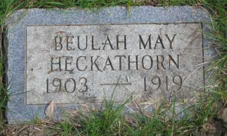 HECKATHORN, BEULAH MAY - Dakota County, Nebraska | BEULAH MAY HECKATHORN - Nebraska Gravestone Photos