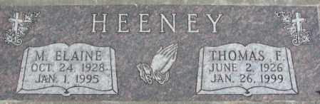HEENEY, M. ELAINE - Dakota County, Nebraska | M. ELAINE HEENEY - Nebraska Gravestone Photos