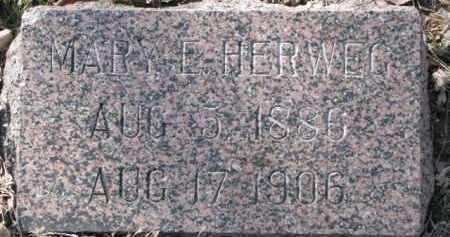 HERWEG, MARY E. - Dakota County, Nebraska | MARY E. HERWEG - Nebraska Gravestone Photos