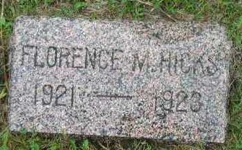HICKS, FLORENCE M. - Dakota County, Nebraska | FLORENCE M. HICKS - Nebraska Gravestone Photos