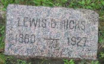 HICKS, LEWIS D. - Dakota County, Nebraska | LEWIS D. HICKS - Nebraska Gravestone Photos