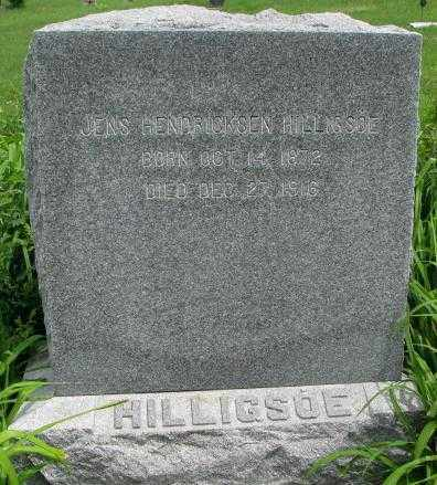 HILLIGSOE, JENS HENDRICKSEN - Dakota County, Nebraska | JENS HENDRICKSEN HILLIGSOE - Nebraska Gravestone Photos