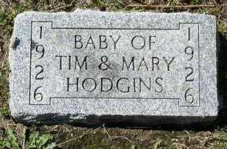HODGINS, BABY - Dakota County, Nebraska | BABY HODGINS - Nebraska Gravestone Photos