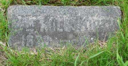 HOLSWORTH, WM. - Dakota County, Nebraska   WM. HOLSWORTH - Nebraska Gravestone Photos
