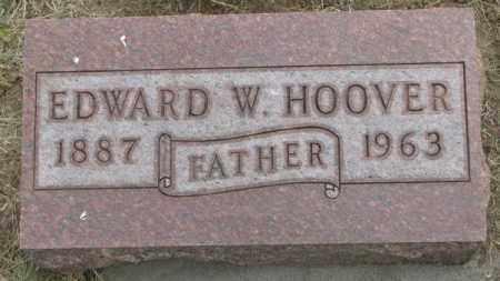 HOOVER, EDWARD W. - Dakota County, Nebraska   EDWARD W. HOOVER - Nebraska Gravestone Photos