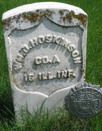 HOSKINSON, WM. O. - Dakota County, Nebraska | WM. O. HOSKINSON - Nebraska Gravestone Photos
