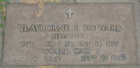 HOWARD, CLAYBORNE B. - Dakota County, Nebraska | CLAYBORNE B. HOWARD - Nebraska Gravestone Photos