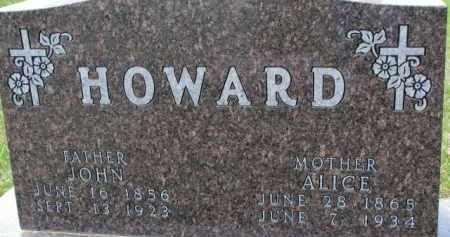 HOWARD, ALICE - Dakota County, Nebraska | ALICE HOWARD - Nebraska Gravestone Photos