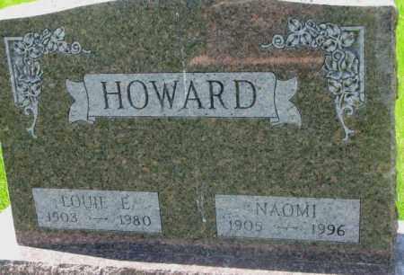 HOWARD, LOUIE E. - Dakota County, Nebraska   LOUIE E. HOWARD - Nebraska Gravestone Photos