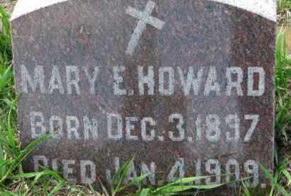 HOWARD, MARY E. - Dakota County, Nebraska | MARY E. HOWARD - Nebraska Gravestone Photos