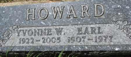 HOWARD, EARL - Dakota County, Nebraska | EARL HOWARD - Nebraska Gravestone Photos