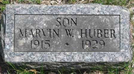 HUBER, MARVIN W. - Dakota County, Nebraska | MARVIN W. HUBER - Nebraska Gravestone Photos